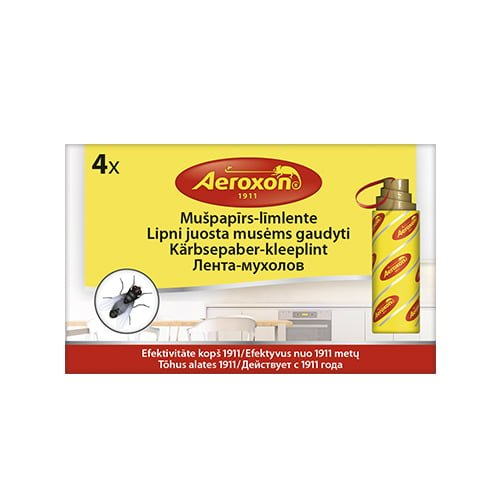 Aeroxon mušpapīrs - līmlente (rullītis), 4 gab. 1