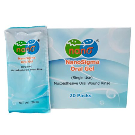 NanoSigma Oral Gel gels mutes gļotādas virsējam slānim, 400 ml, individuālos maisiņos 30