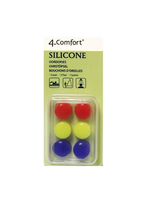 4-Comfort ausu aizbāžņi Silicone (silikona, pasargā no ūdens) 1