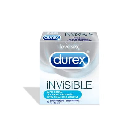 Презервативы DUREX Invisible Extra Sensitive N3 3