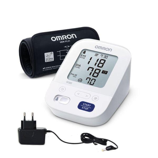 Asinsspiediena mērītājs OMRON M3 Comfort + adapteris 1