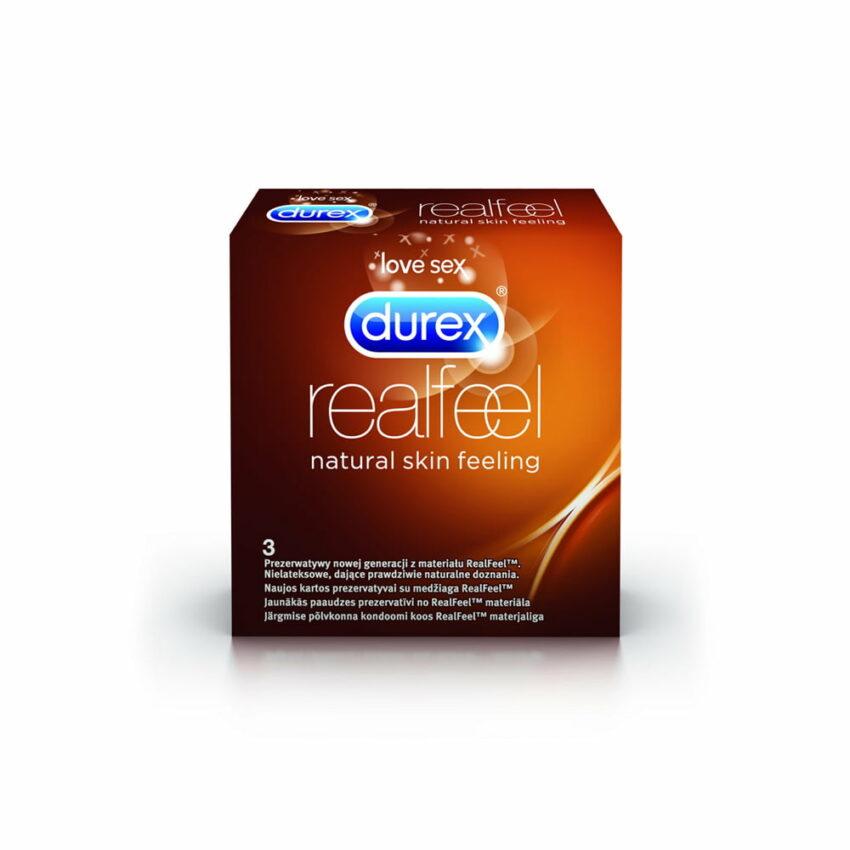 DUREX Real Feel prezervatīvi, 3 gab. 1