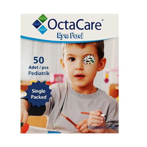 """Пластырь для глаз """"OctaCare"""" стерильный,  для мальчиков, синего цвета, 5 X 6,2 cm. N1 1"""