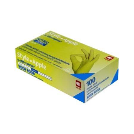 AMPri nepūderēti nitrila cimdi ābolu krāsā (maza izmēra) 4