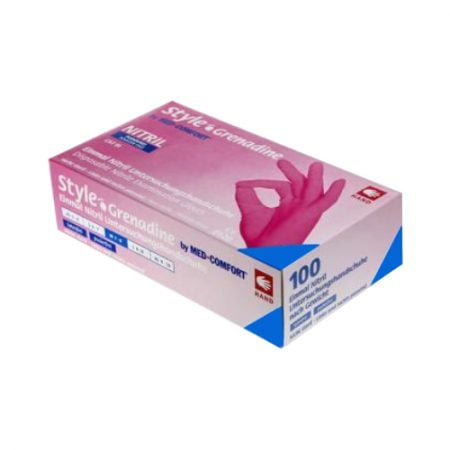 AMPri nepūderēti nitrila cimdi grenadīnu krāsā (maza izmēra) 9