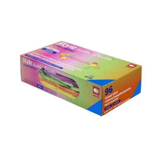 "AMPri nepūderētu nitrila cimdu ""Tutti Frutti"" krāsu izlase (vidēja izmēra) 1"