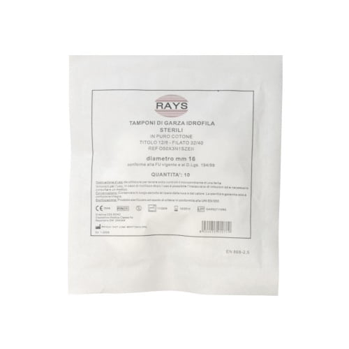 Rays sterili marles tamponi (30 mm) 1