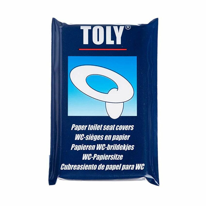 TOLY vienreizējas lietošanas pārklāji no papīra tualetes podam, 10 gab. 1
