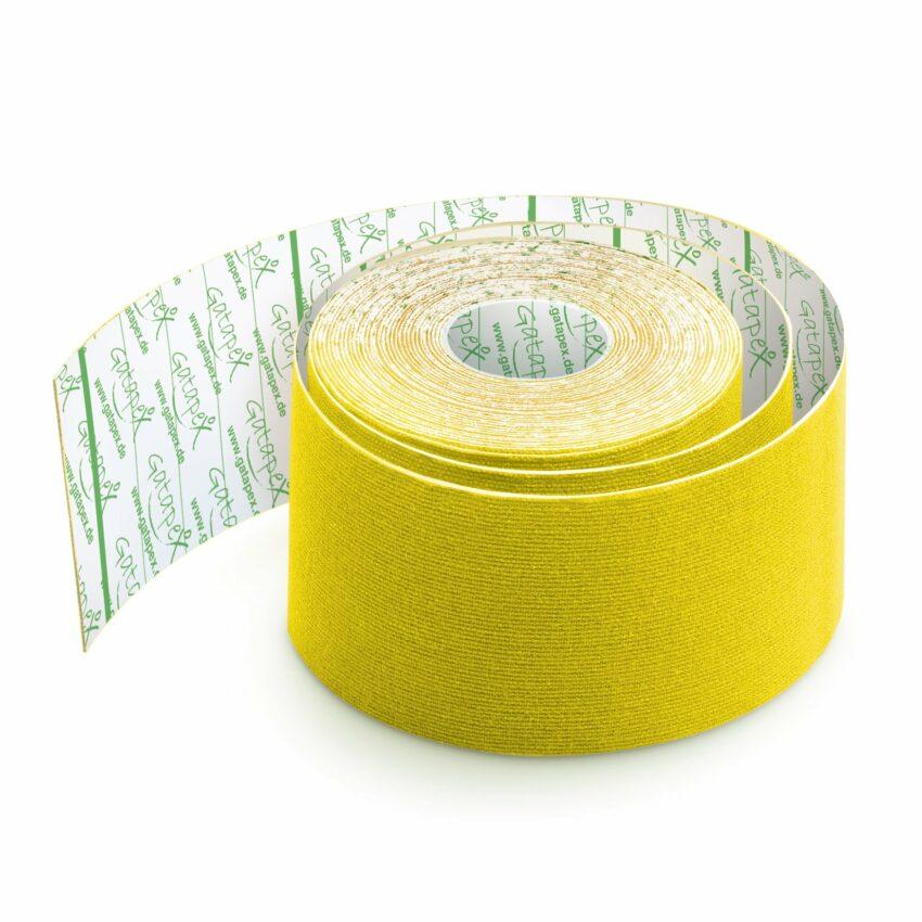Gatapex kinezioloģiskais teips dzeltenā krāsā (5 cm x 5,5 m), 1 gab. 1