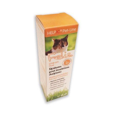HELPIC Felis Line On šķīdums pret insektiem kaķiem, 50 ml 2