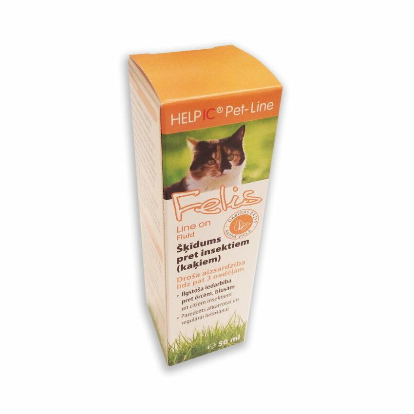 HELPIC Felis Line On šķīdums pret insektiem kaķiem, 50 ml 1