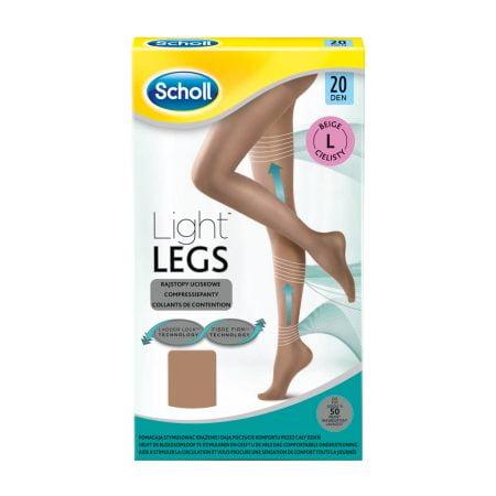 Scholl Light Legs kompresijas zeķubikses, L izmērs, 20 DEN, bēšas 14