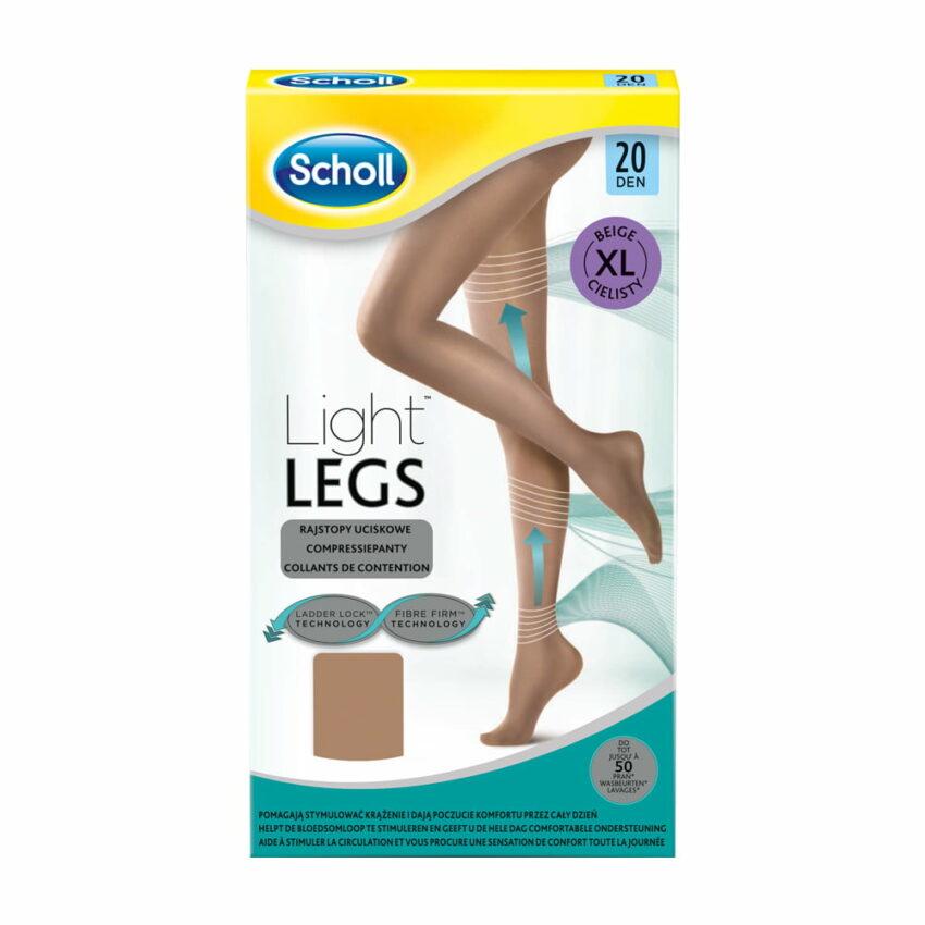 Компрессионные колготки Scholl Light Legs, размер XL, 20 DEN, бежевый 1