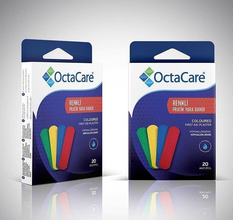 OctaCare plāksteri 19x72mm, N20, krāsaini 1