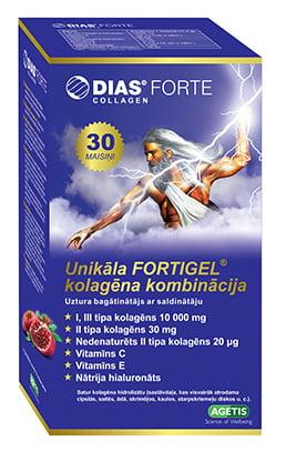 DIAS FORTE COLLAGEN  uztura bagātinātājs ar saldinātāju (pulveris) , N30 2
