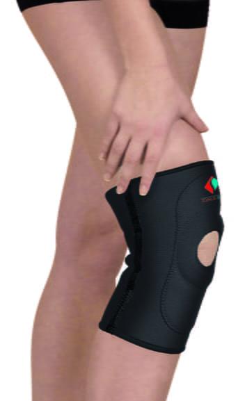 Эластичная неопреновая повязка (ортез) для фиксации коленного сустава с открытым коленом TONUS ELAST 9903. 1