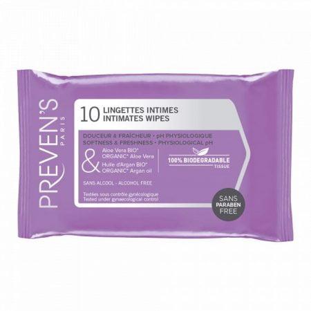 Preven's Paris mitrās salvetes intīmai higiēnai N10 5