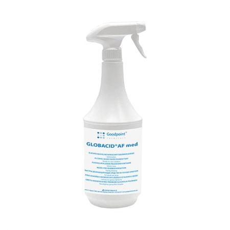 Dezinfekcijas līdzeklis GLOBACID AF med ar izsmidzinātāju (uz alkohola bāzes) 1L 8