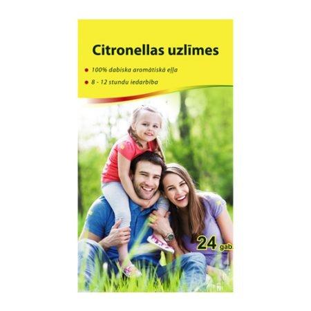 Citronellas uzlīmes kukaiņu atbaidīšanai N24 15