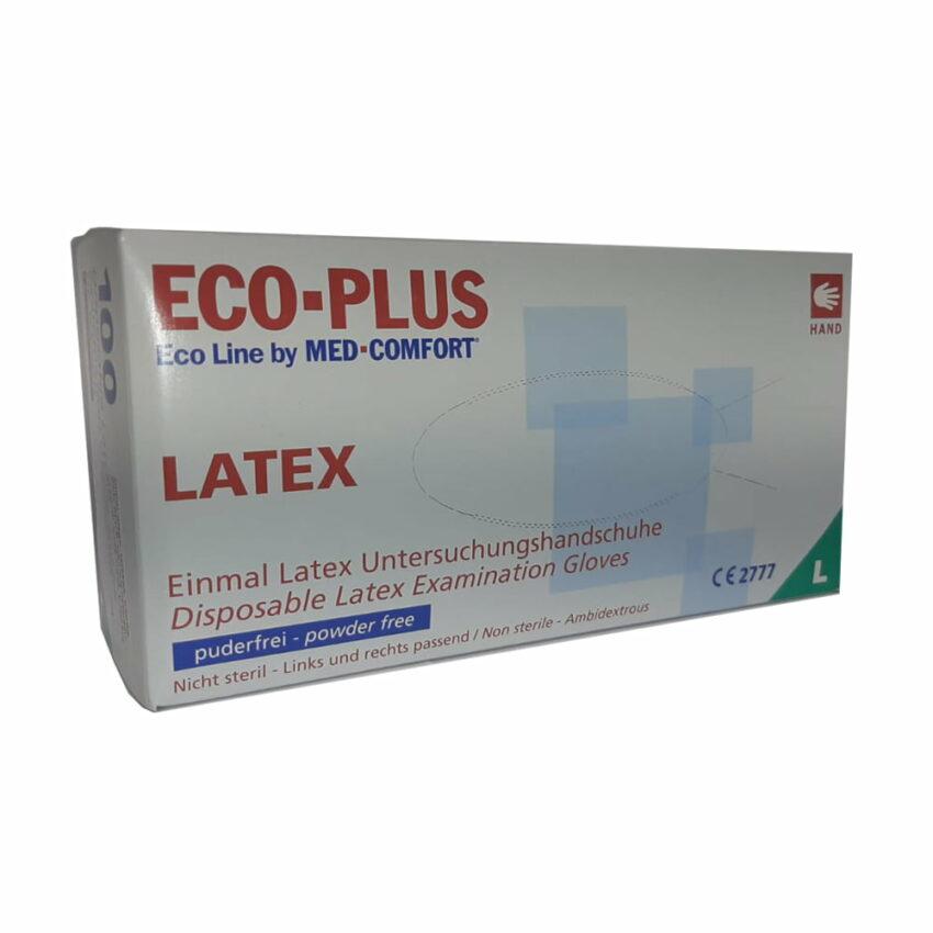Перчатки медицинские диагностические латексные ECO PLUS без пудры / нестерильные N100, размер L. 1