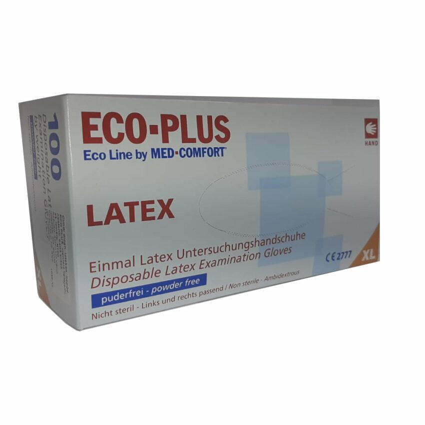 Перчатки медицинские диагностические латексные ECO PLUS без пудры / нестерильные N100, размер XL. 1