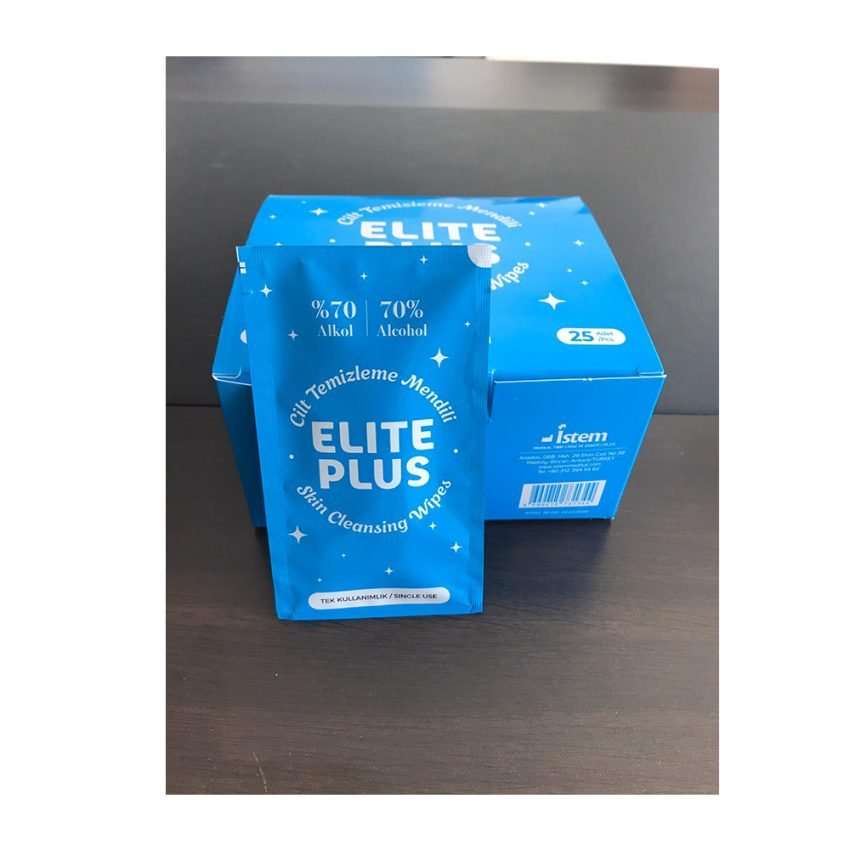 ELITE PLUS ādu attīrošas salvetes ar 70% alk. N25 1