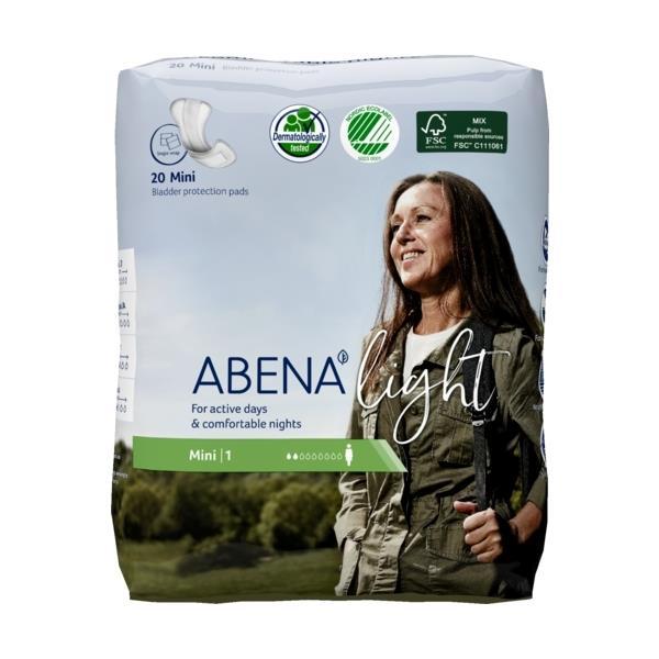ABENA Light Mini 1 ieliktnīši urīna nesaturēšanai, 20 gab. 1