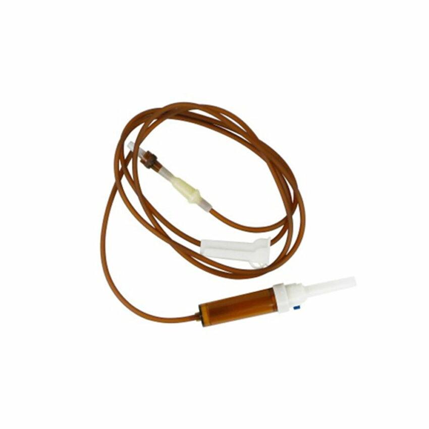 Инфузионная система стерильная 150 см. длина,  Луер Лок, янтарного цвета, 1 шт. 1