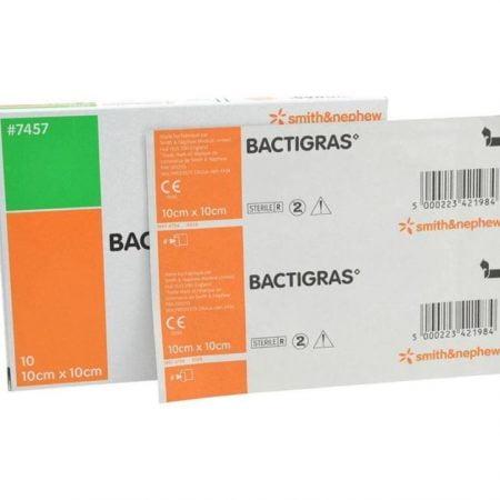Марлевая повязка с хлоргексидином, антисептическая Bactigras 10 x 10 cm, N1 5