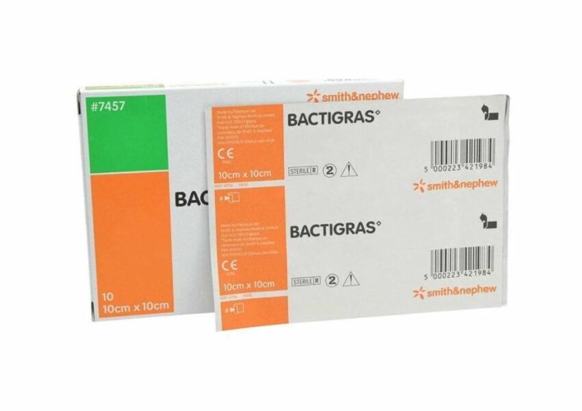 Марлевая повязка с хлоргексидином, антисептическая Bactigras  5 x 5 cm, N1 1