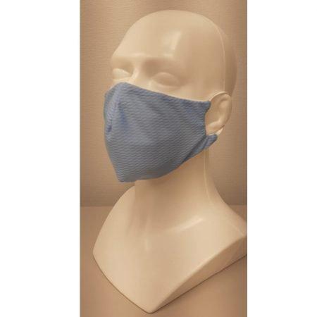 Daudzreiz lietojama antibakteriāla sejas maska COOLMAX ar sudraba joniem, gaiši zila, N1 2