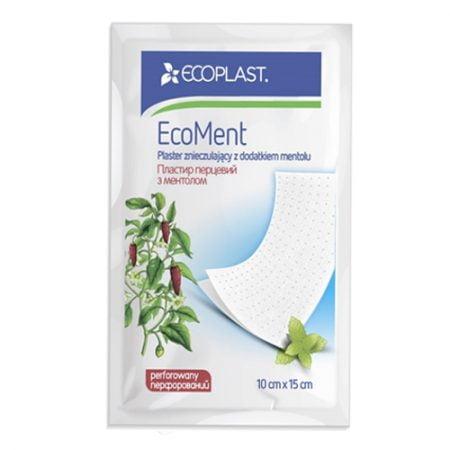 ECOPLAST Пластырь перцовый с ментолом перфорированный EcoMent, N1 7
