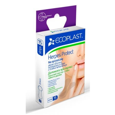ECOPLAST plāksteri pret aukstumpumpām (Herpes Protect), N15 4